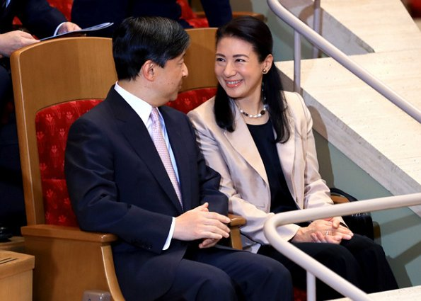 Crown Prince Naruhito and Crown Princess Masako attended a performance by violinist Itzhak Perlman