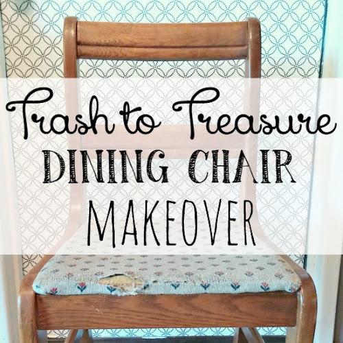 Trash to Treasure Repurposed Dining Chair