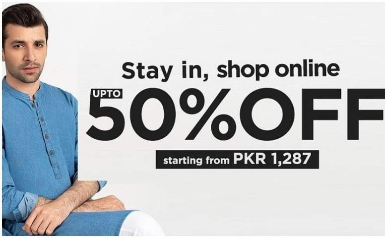 Eid-ul-Fitr 2020 Shopping   Gul Ahmed Gents wear Kurta & Shalwar Kameez 50% Off