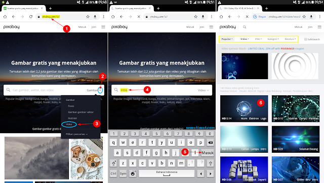 cara download video di pixabay di android