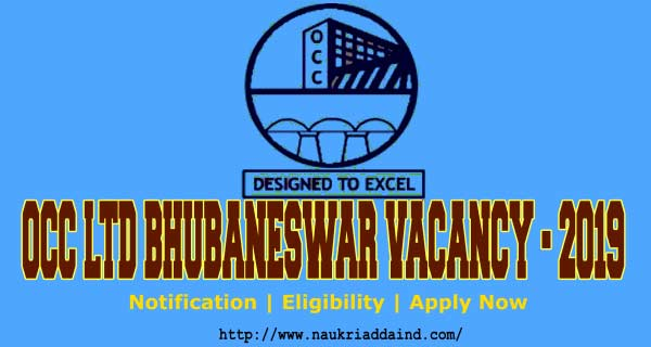 OCC Ltd Bhubaneswar Vacancy 2019 for Office Assistant Jobs