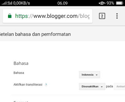 Cara hilangkan tag tribidi on di editor blogger