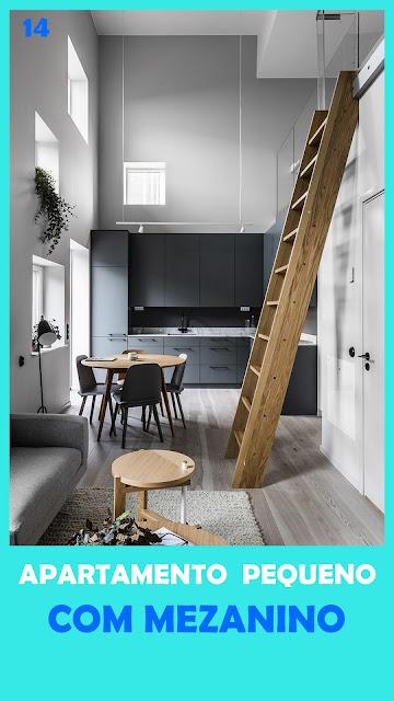 escada de madeira para mezanino