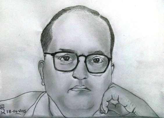 PENCIL DRAWING  - Dr Bhimrao Ramji Ambedkar