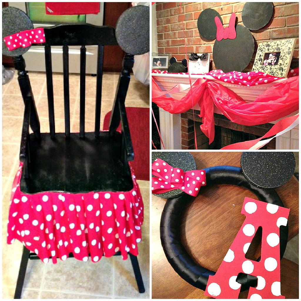 minnie mouse chair walmart covers china landy the super messy supermommy avery 39s birthday party recap