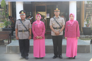 Kapolres Cirebon Kota Pimpin Upacara Sertijab Kapolsek lemahwungkuk