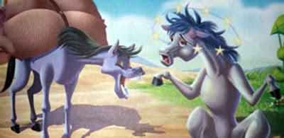 Los dos machos caballos