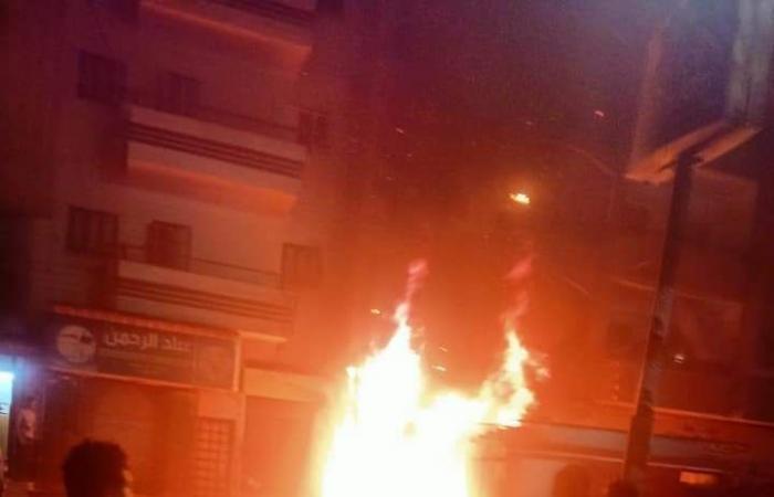 السيطرة على حريق صيدلية بمدينة ساقلتة فى سوهاج