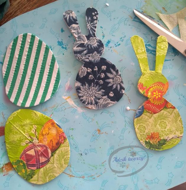 Adzik tworzy - ozdoby wielkanocne DIY na patyku upcykling