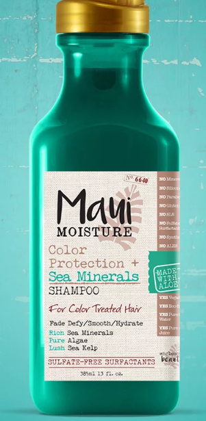 84f38bf4f9 This shampoo was inspired by the ocean. Dive deep into hydration with the  Maui Moisture Color Protection + Sea Minerals Shampoo. Starting out with  aloe vera ...