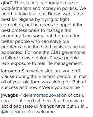 How people reacted as Dele Momodu shared drowning photo of Buhari & Kemi Adeosun