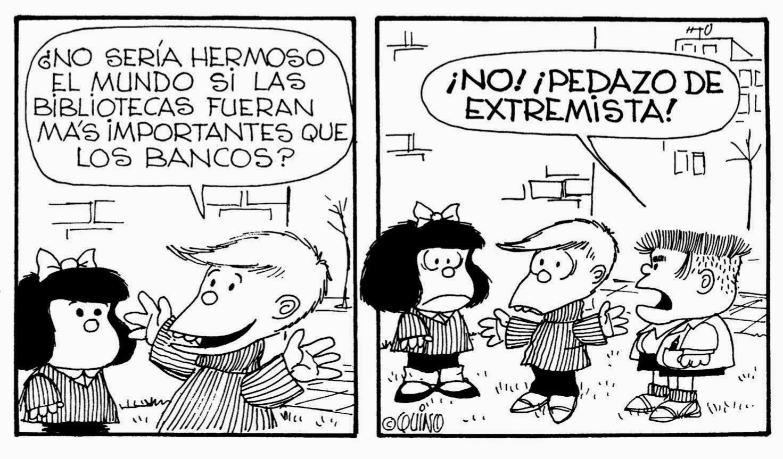 Mafalda está de luto por la muerte de Quino 2