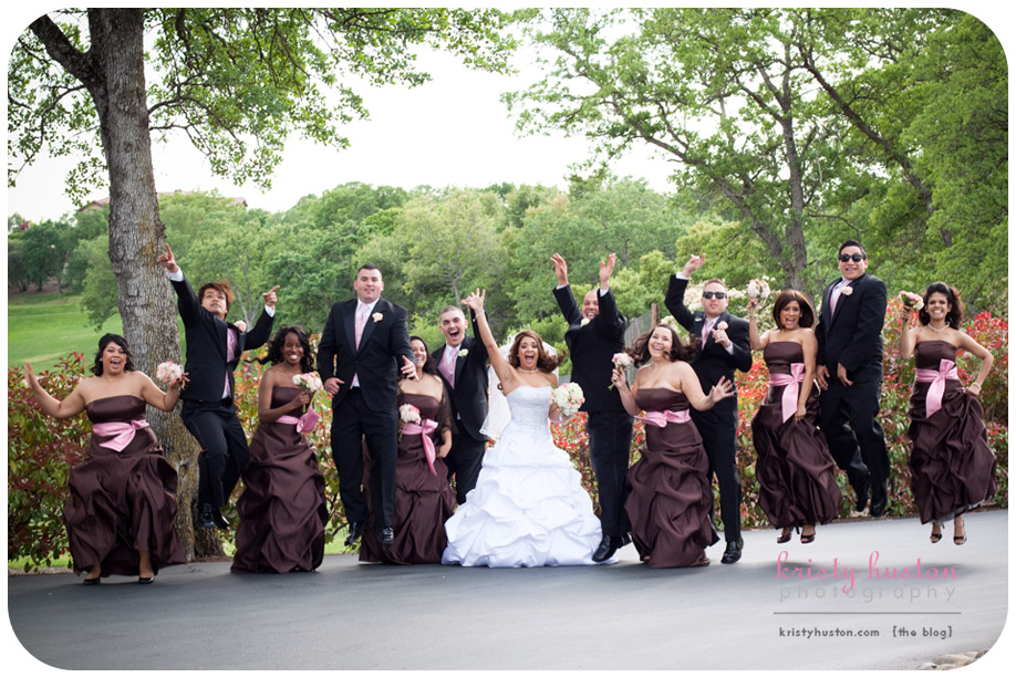 Brown And Pink Wedding