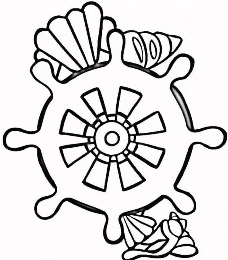 Los Dibujos Para Colorear : Dibujos De Conchas De Mar Para