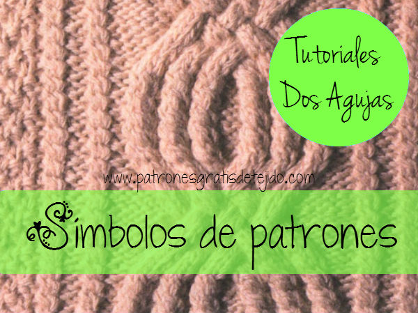 S 237 Mbolos De Patrones De Dos Agujas Crochet Y Dos Agujas