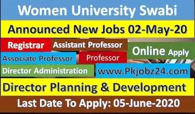 Women University Swabi Jobs For Lectureship, Registrar 02-May-2020