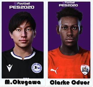 PES 2021 Faces  Masaya Okugawa & Clarke Oduor by Shaft