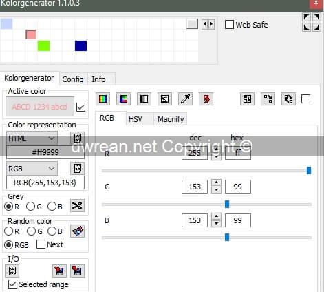Kolorgenerator 1.1.0.3 - Δωρεάν πρόγραμμα διαχείρισης χρωμάτων
