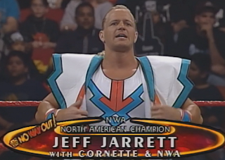 WWE / WWF In Your House 20: No Way Out of Texas - Jeff Jarrett defended the NWA North American title against Bradshaw