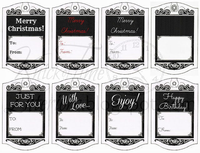 picture about Printable Hang Tags named Printable Cling Tag Reward Tags Knick of Period