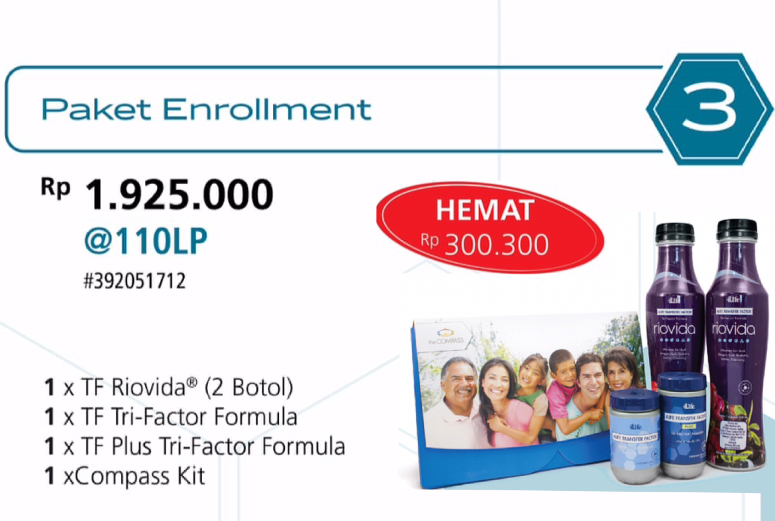 Paket ENROLLMENT 4Life Transfer Factor