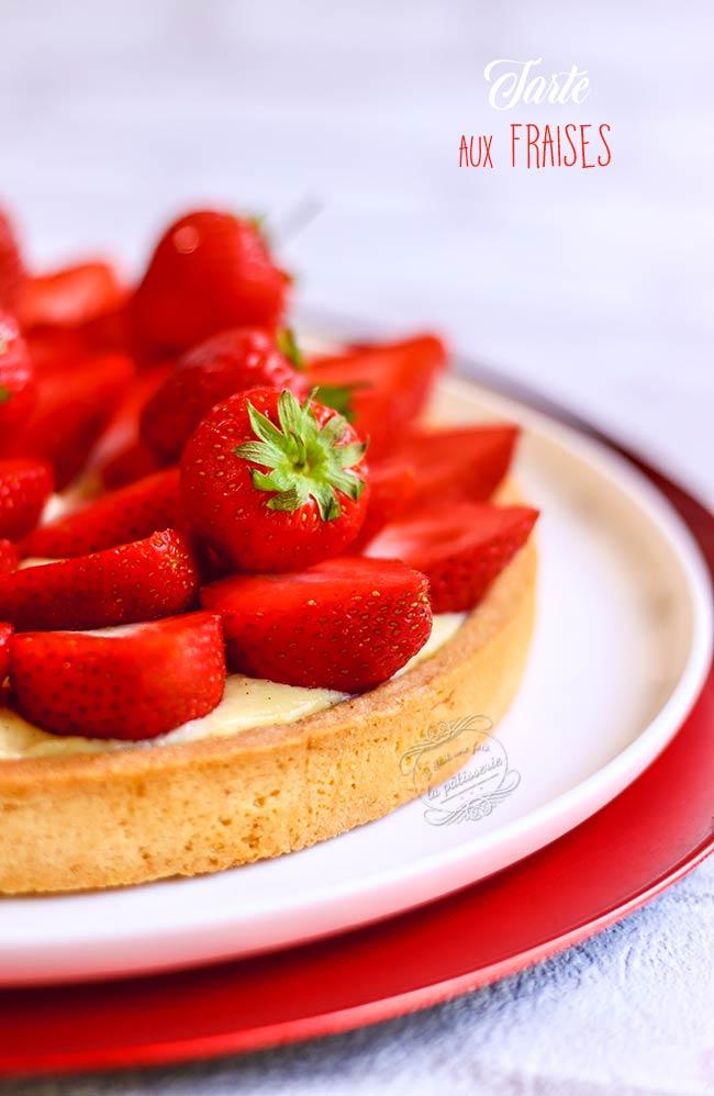 tarte aux fraises crème