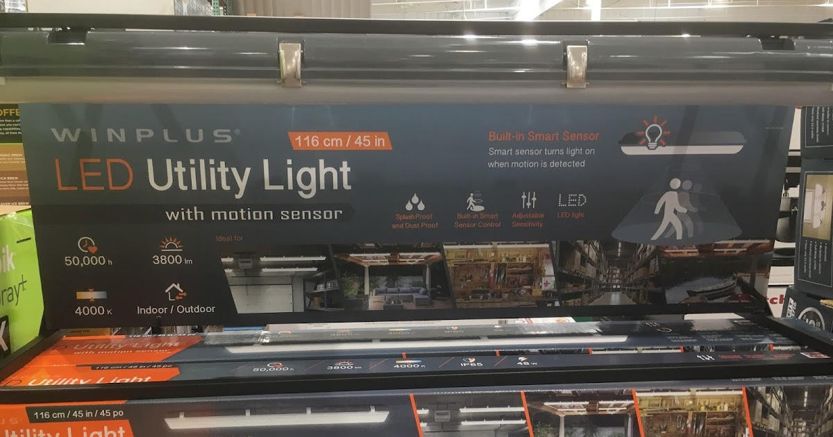 Winplus Led Utility Light With Motion Sensor Costco Weekender