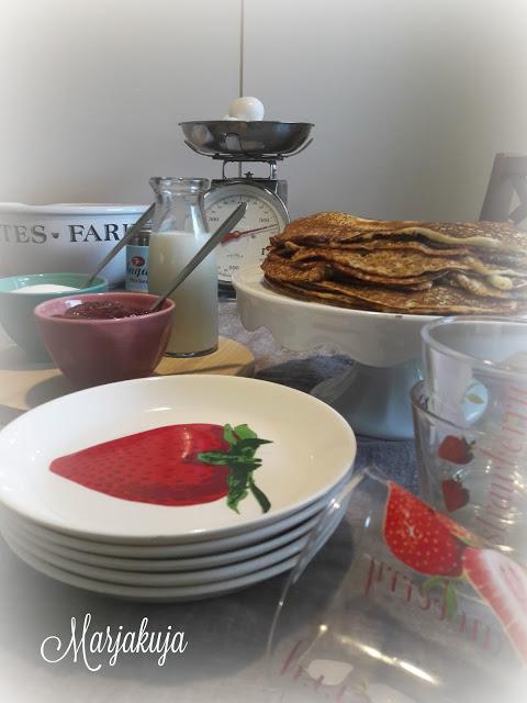 mansikka astiat lettukestit