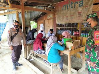 Sambangi Desa Binaan Bhabinkamtibmas Desa Rampunan Imbau Jaga Kebersihan dan Prokes