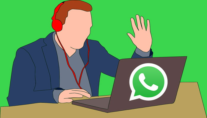 cara video call di laptop dengan whatsapp