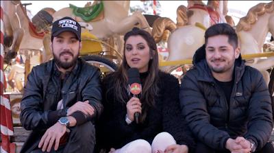 Mônica com a dupla Sandro & Cícero - Divulgação