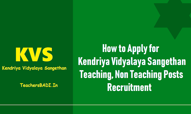 how to apply for kvs principals pgts tgts prts recruitment exam date,kvs admit cards,kvs results,kvs recruitment answer key