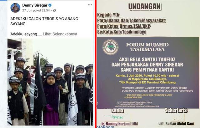 Dituding Fitnah Santri Tahfidz, Denny Siregar Diburu Umat Islam Tasikmalaya, Apakah Kali Ini Bakal Kena Batunya?