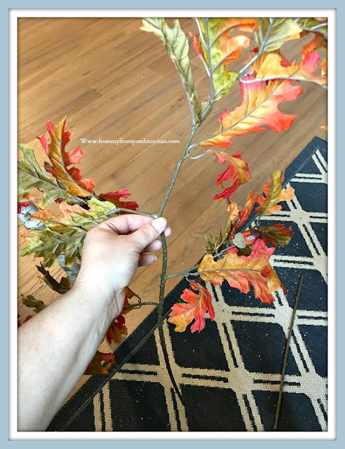 DIY Fall Tree Tutorial-Leaf Spray-FromMy Front Porch To Yours
