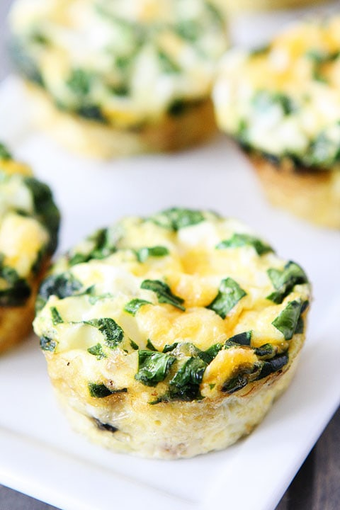fast easy breakfast eggs : Egg Muffins with Sausage, Spinach, and Cheese