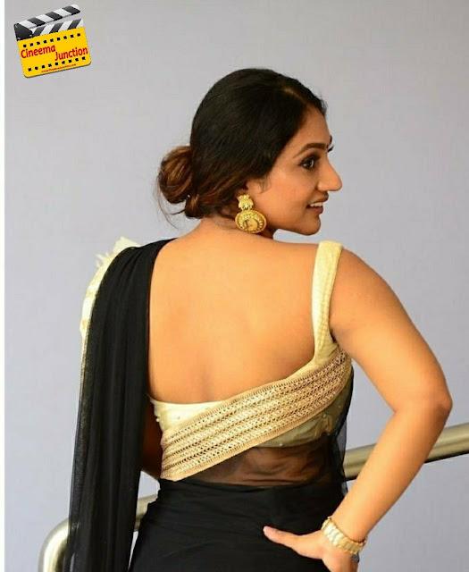 Tamil Heroine Bommu Lakshmi Black Saree Hottest Photos Actress Trend