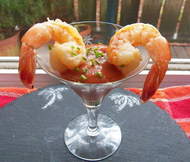 Home made Cocktail Sauce with Shrimp