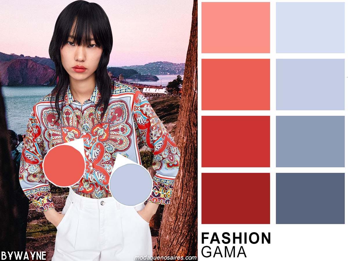 Combinaciones de colores de moda primavera verano 2020.
