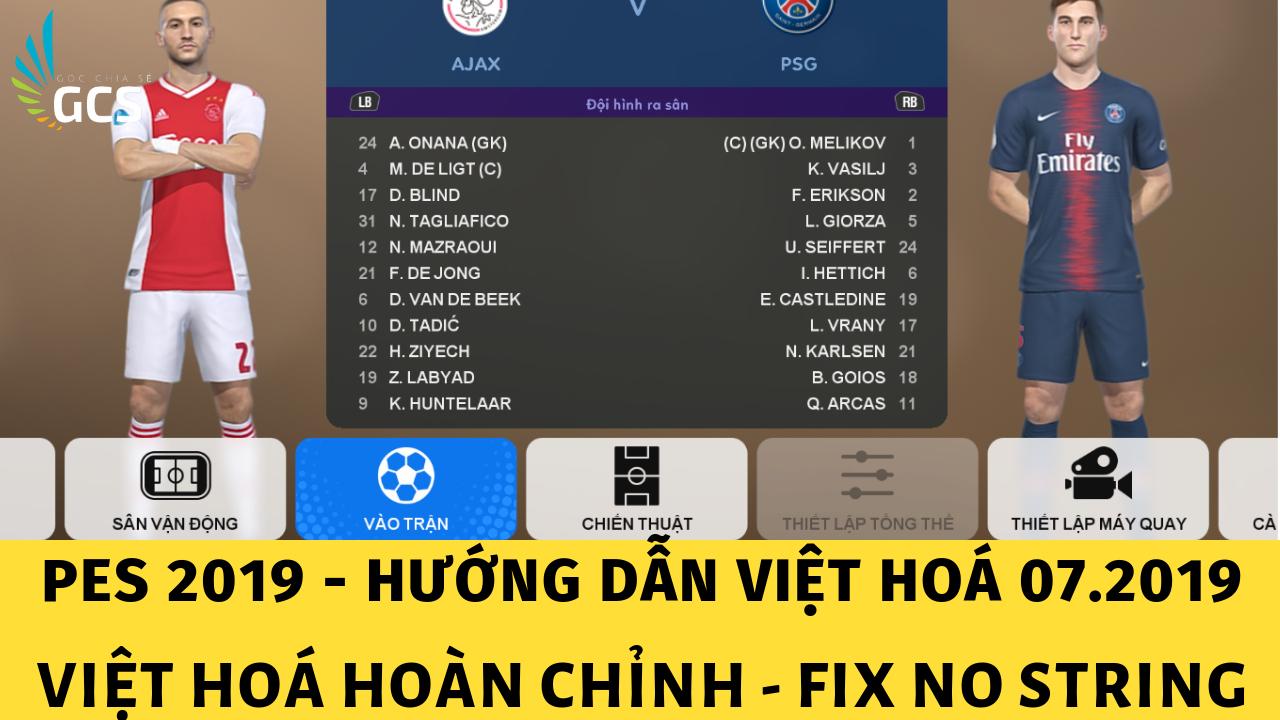 Việt Hoá PES 2019 Hoàn Chỉnh - www.infogatevn.com