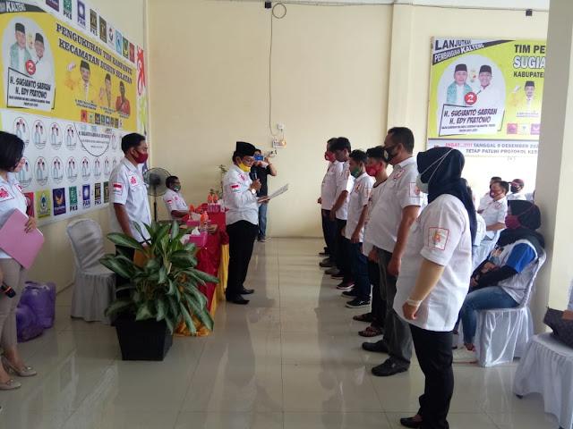 Tim Kampanye Sugianto - Edy Gelar Pengukuhan Tim Kecamatan di Kabupaten Barsel