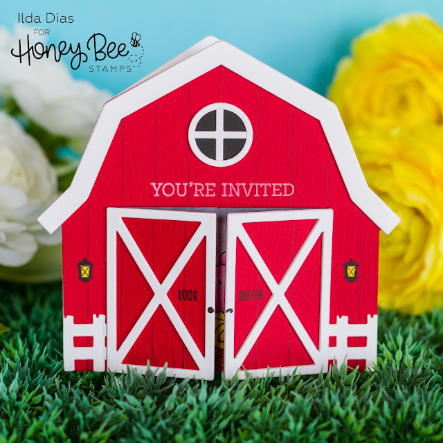 Barnyard Party Invitation - Farm Theme Party Card | Honey Bee Stamps
