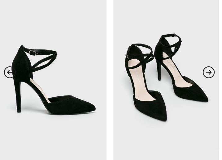 Answear - Pantofi cu toc de nunta eleganti din piele eco itnoarsa