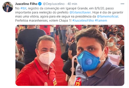 Deputado Juscelino Filho apoia o Prefeito Erlânio Xavier pra presidente da Famem!!!