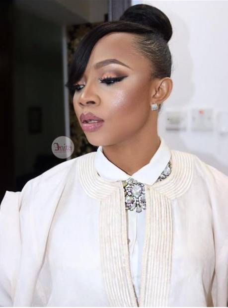 Toke Makinwa wearing agbada