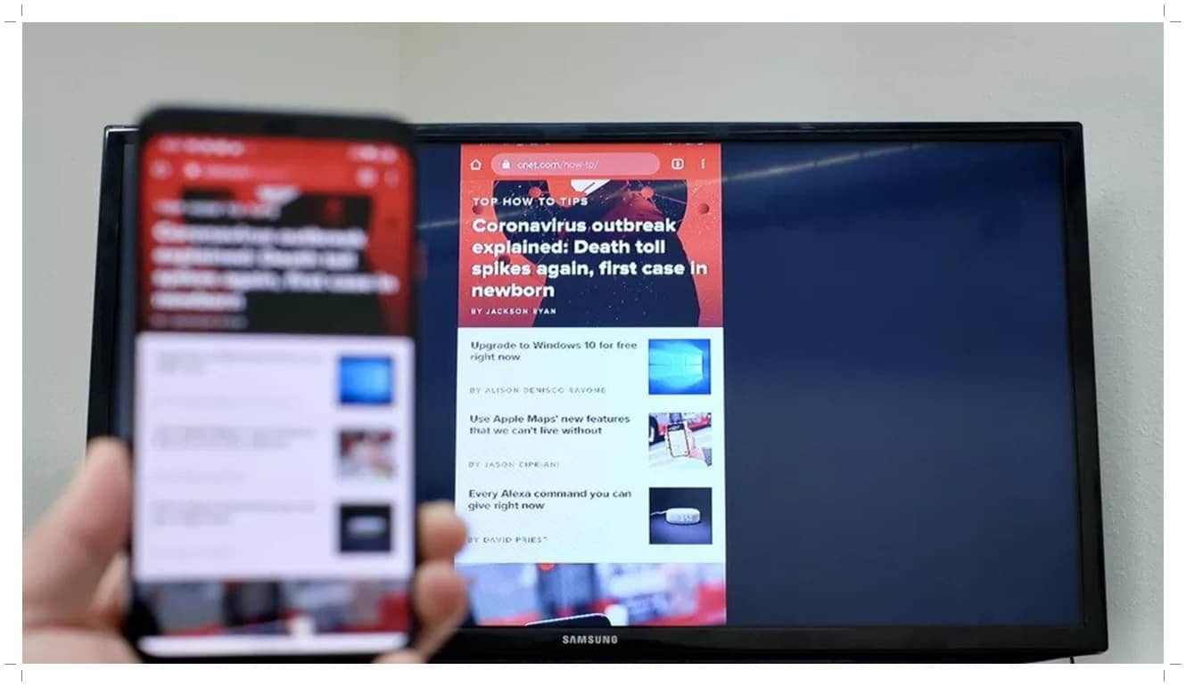 Connect Phone to Smart TV with Android Screen Mirroring