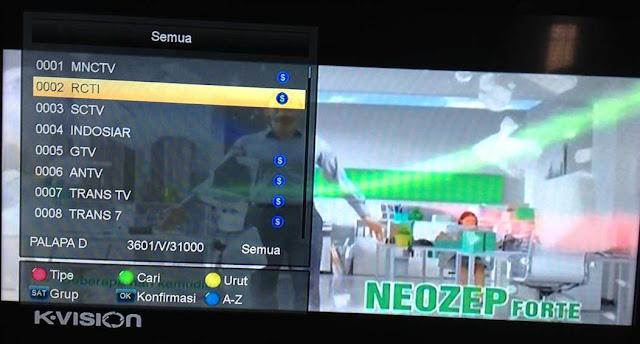 Nomor receiver K-Vision Bromo C2000 Sudah Urut