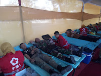 Aksi donor darah mangayubagyo HUT Pemerintah Kota Surakarta Ke 73 Tahun 2019
