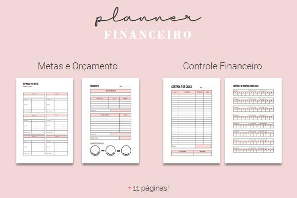 Planner Financeiro para Download e Impressão