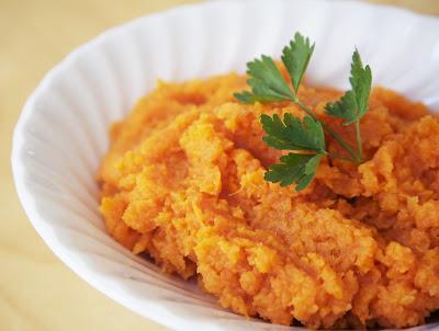 Purê de Batata-Doce e Cenoura (vegana)