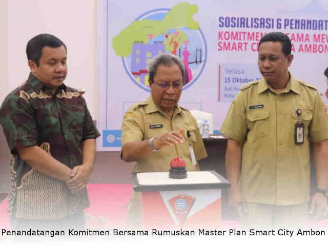 Penandatangan Komitmen Bersama Rumuskan Master Plan Smart City Ambon